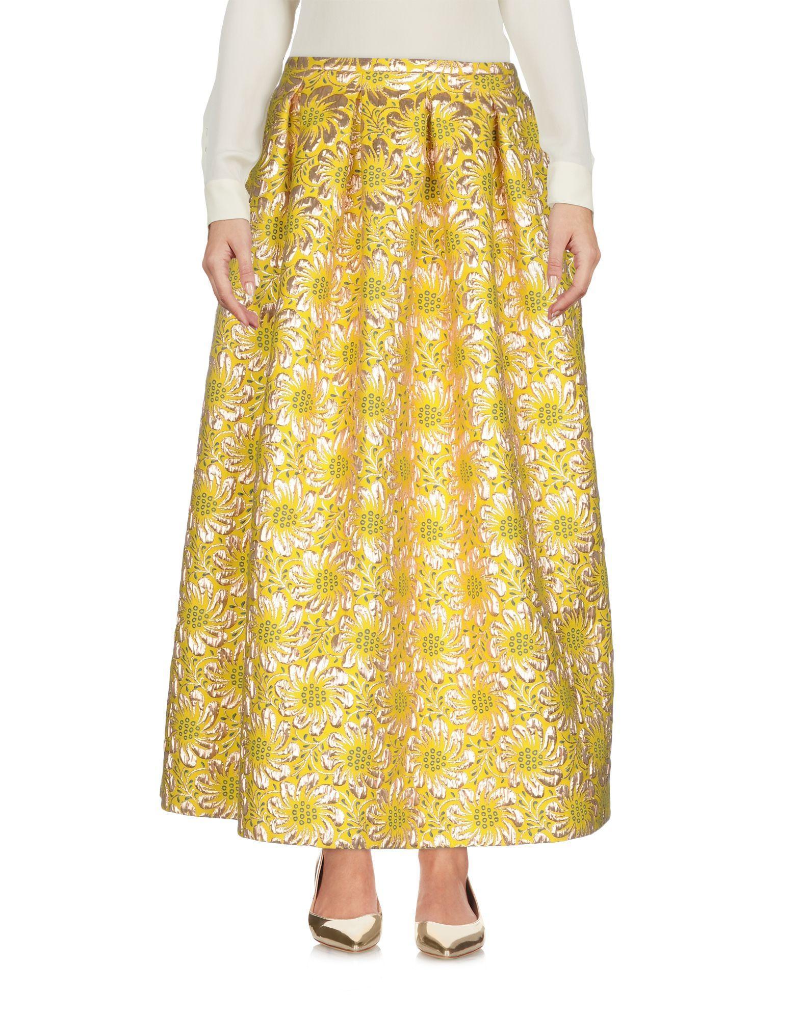 Rochas Long Skirts In Yellow
