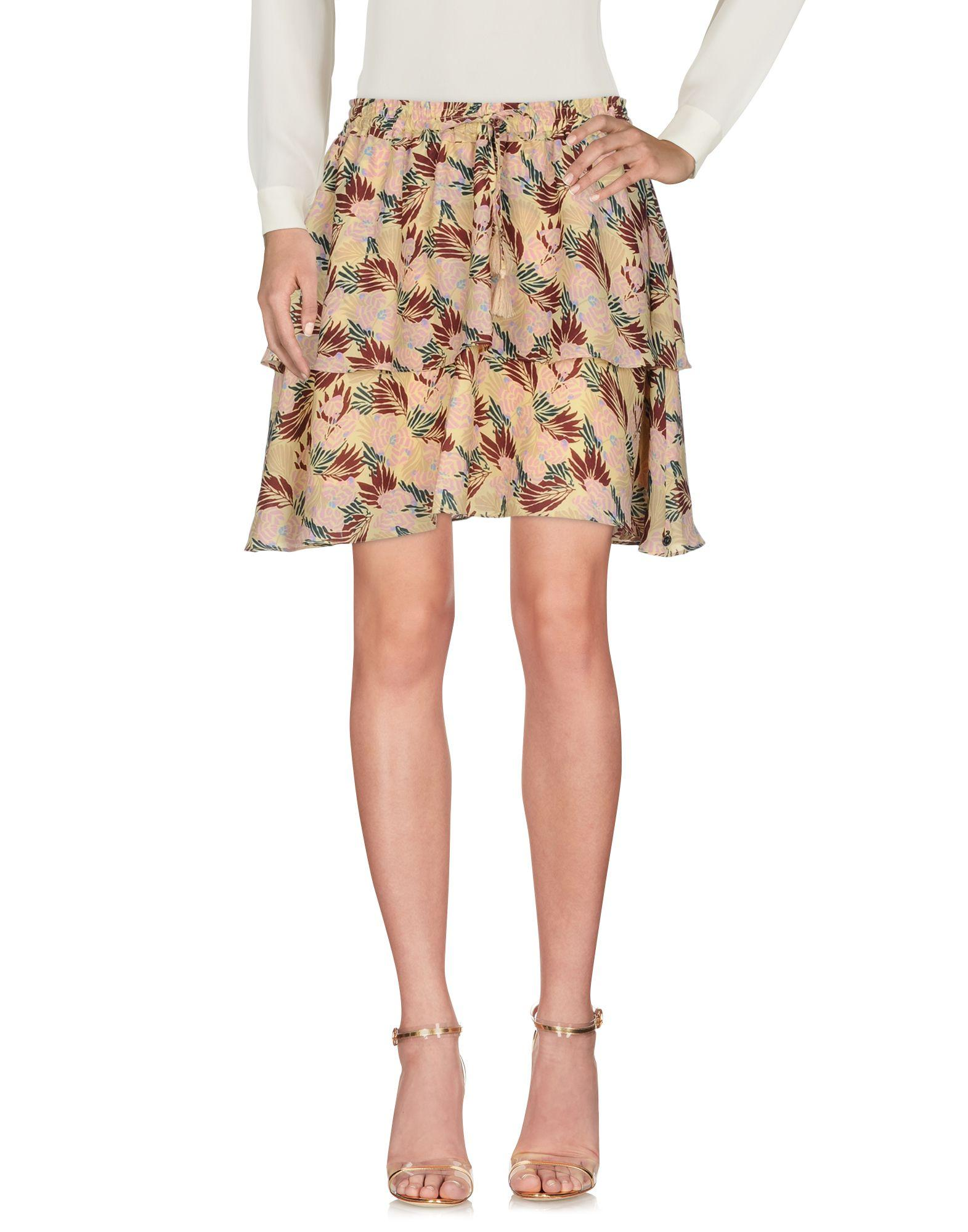 Scotch & Soda Mini Skirt In Sand