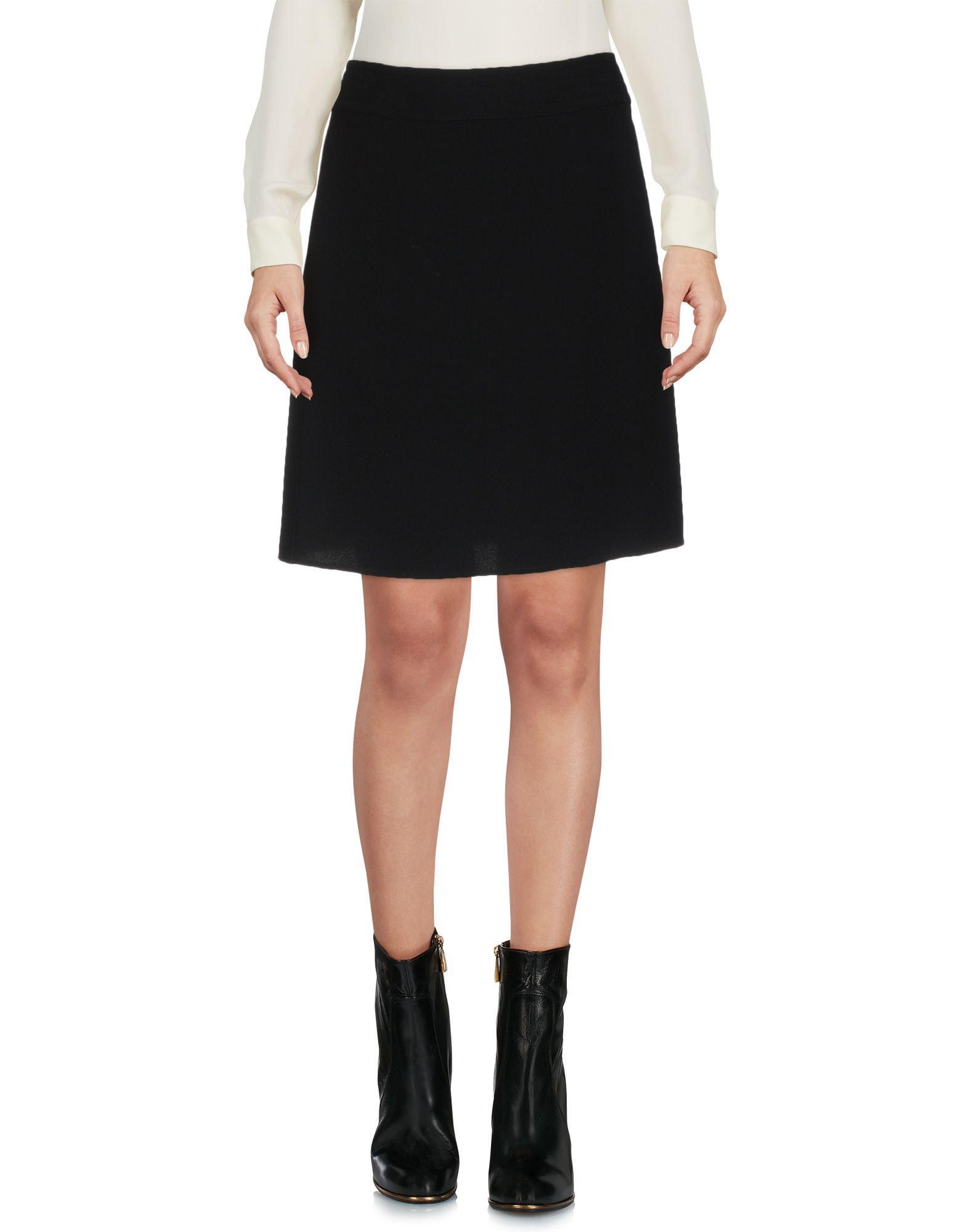 Jil Sander Mini Skirt In Black