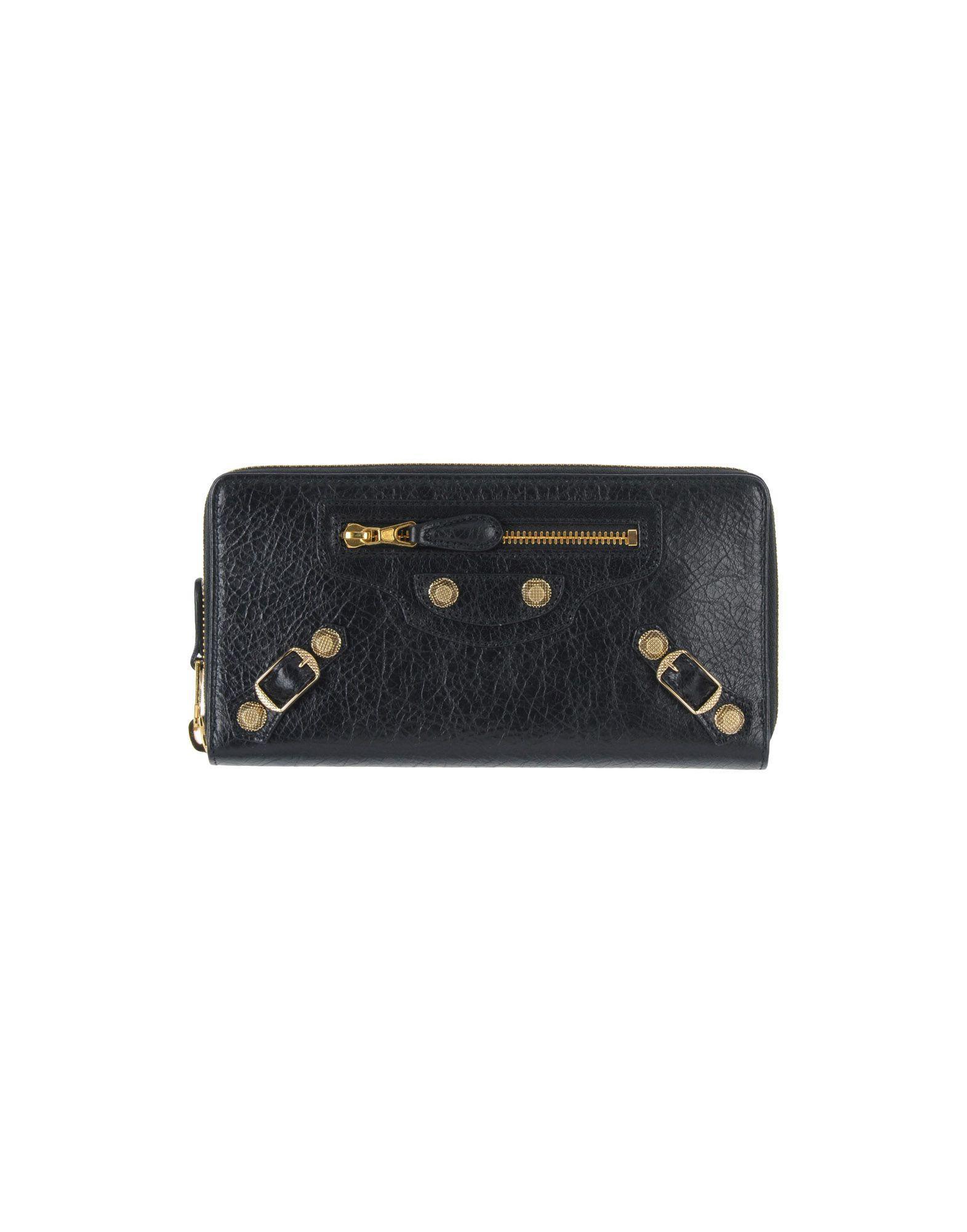 Balenciaga Wallets In Black