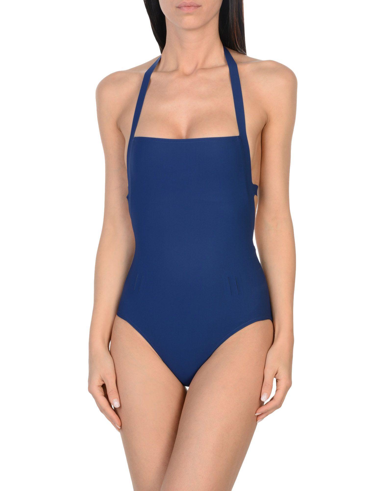 Orlebar Brown One-piece Swimsuits In Dark Blue