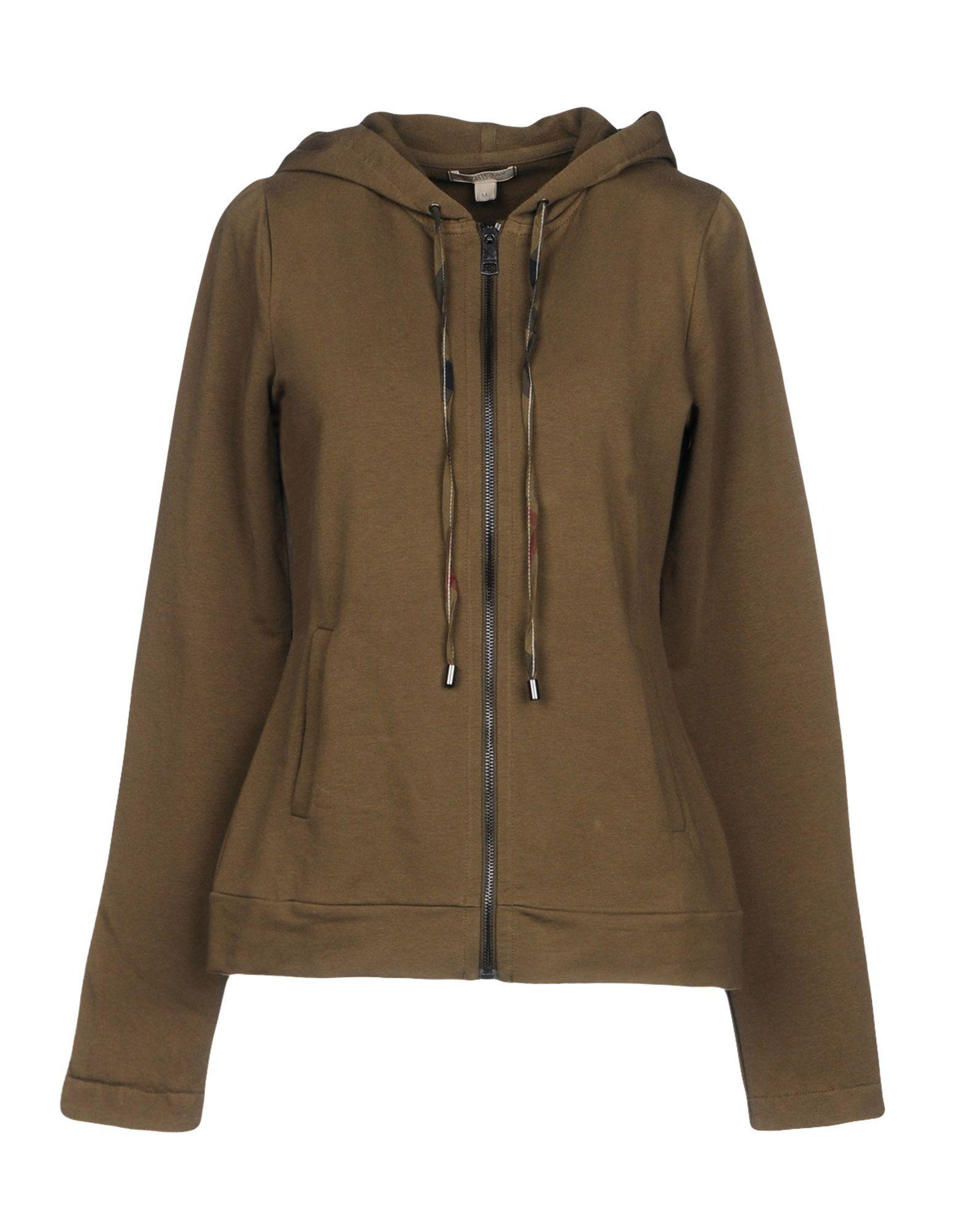 Burberry Sweatshirts In Military Green