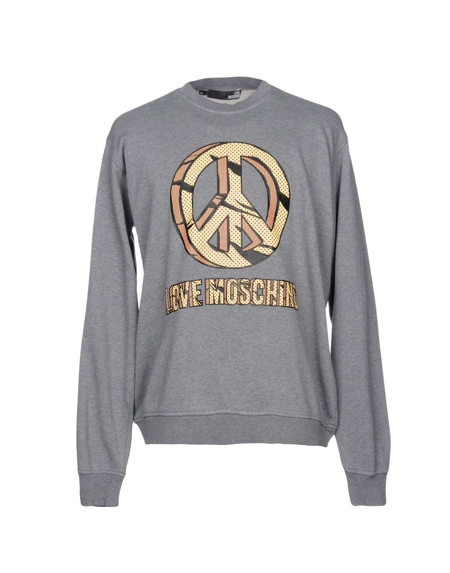 Love Moschino Sweatshirt In Grey