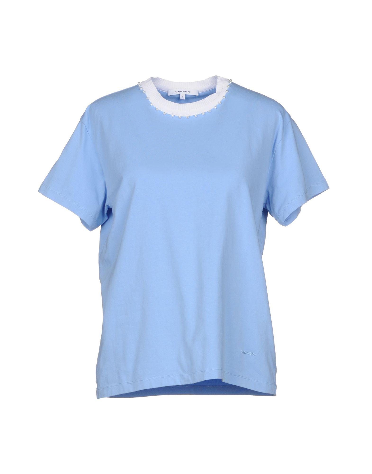 Carven T-shirts In Sky Blue