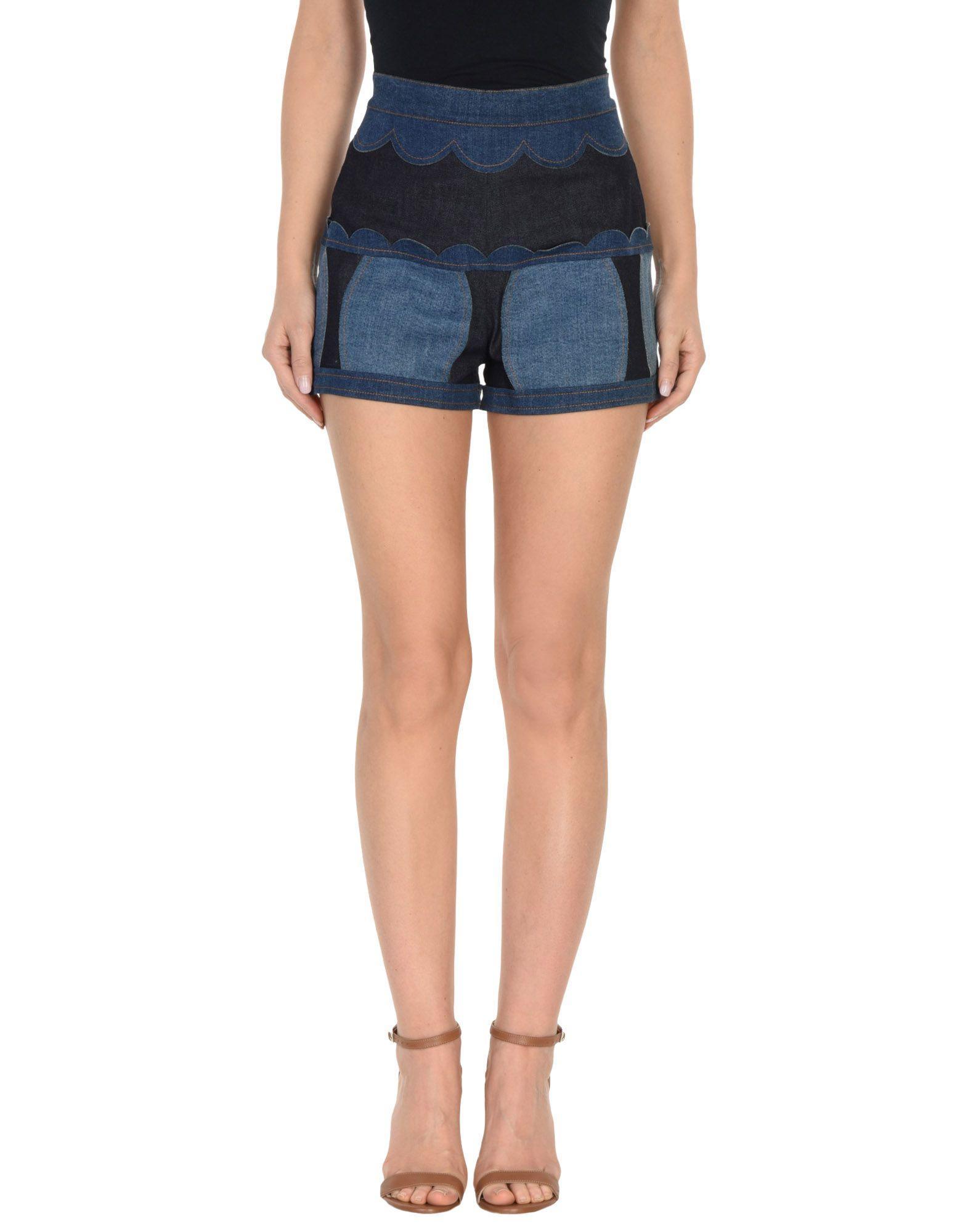 Red Valentino Denim Shorts In Blue