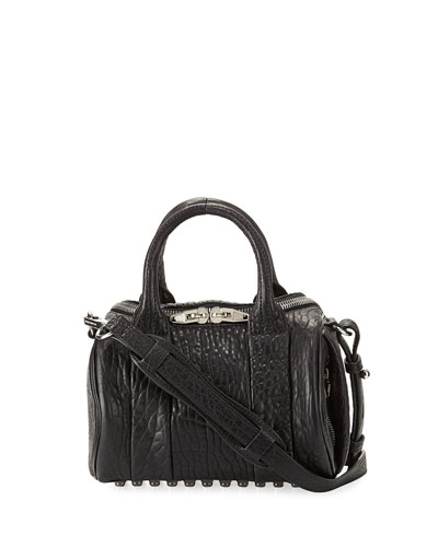 Alexander Wang 'Mini Rockie - Nickel' Leather Crossbody Satchel - Black