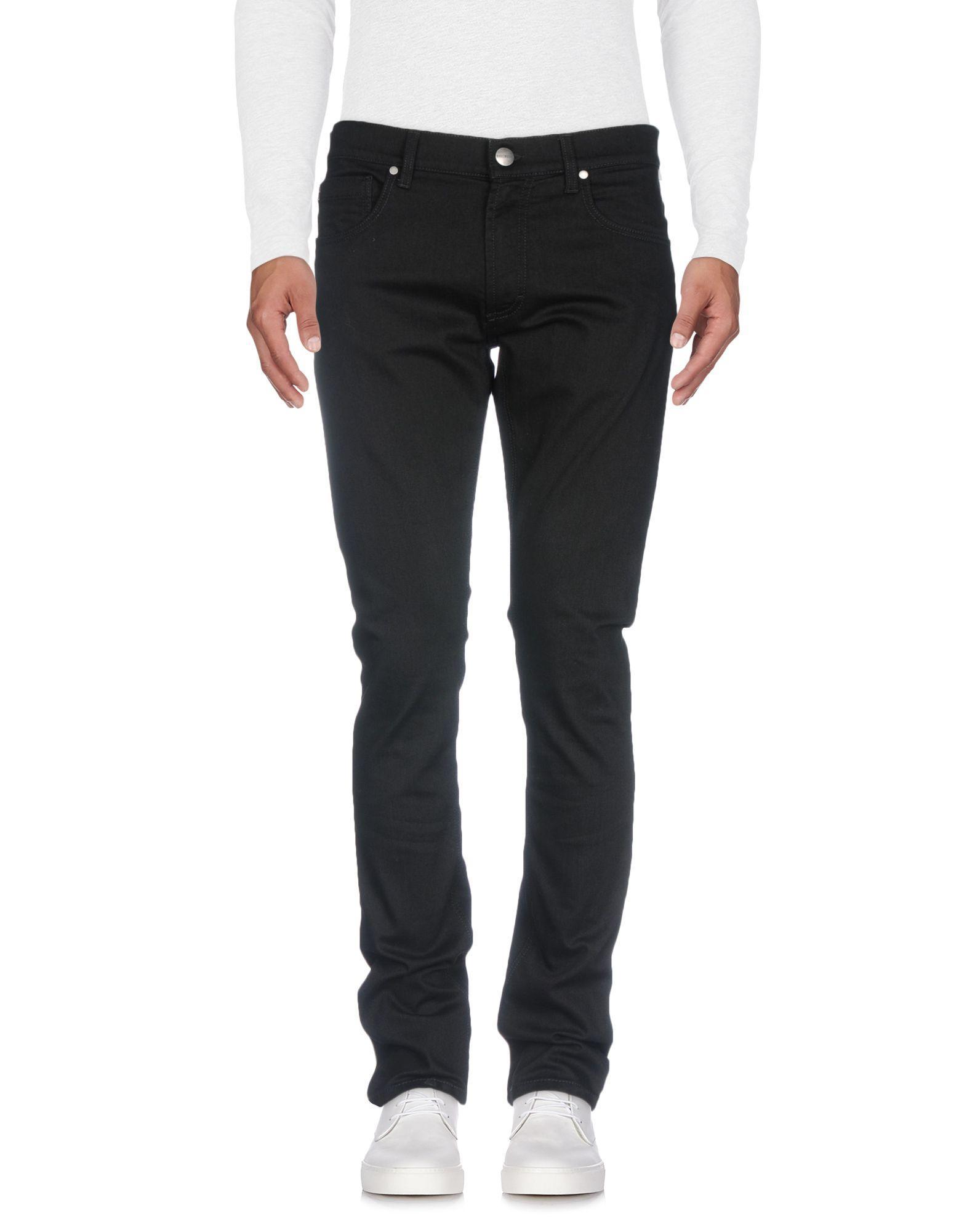 Bikkembergs Denim Pants In Black