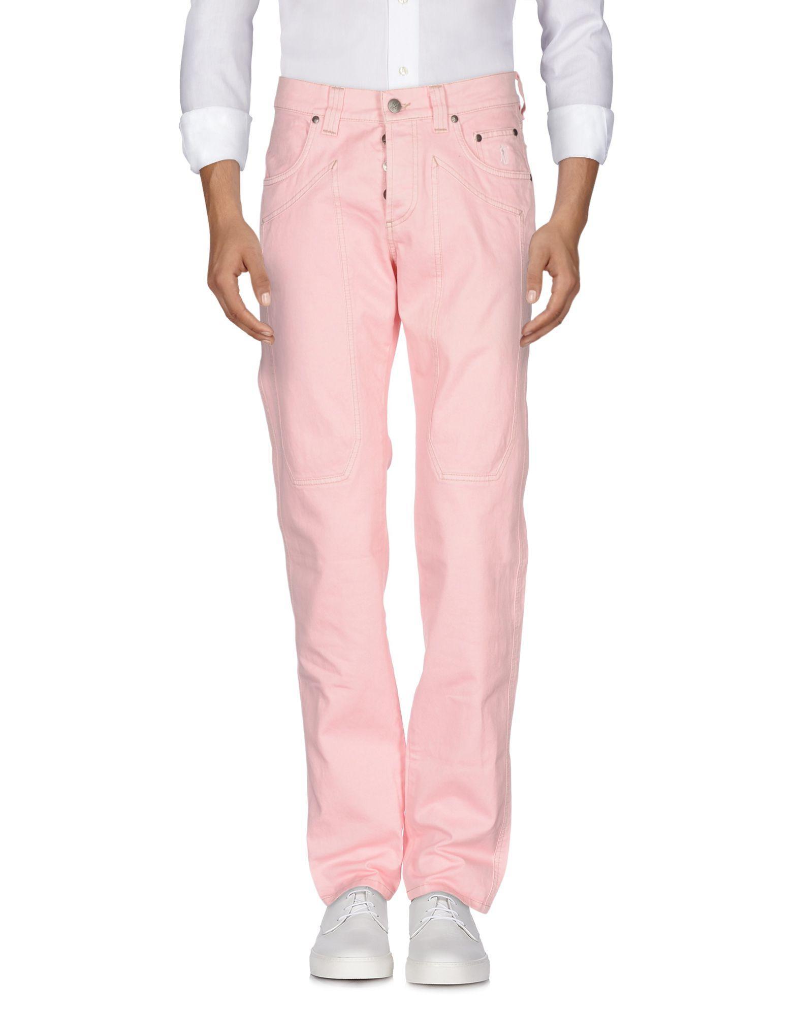 Jeckerson Denim Pants In Pink
