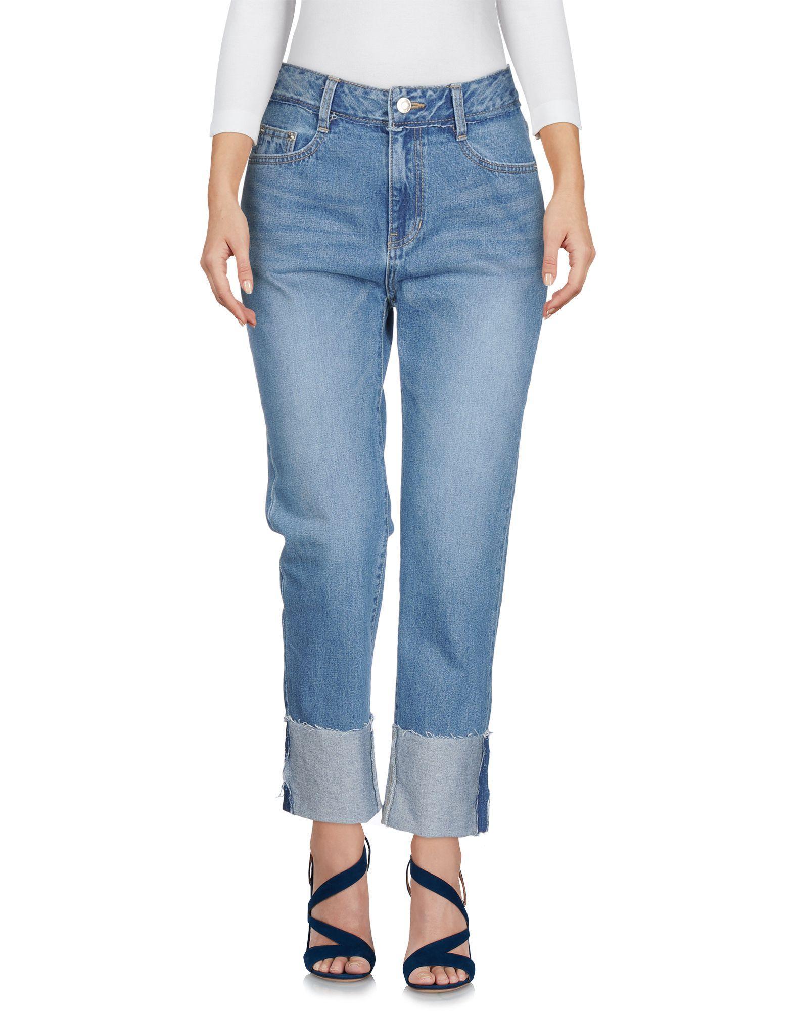 Sjyp Denim Pants In Blue