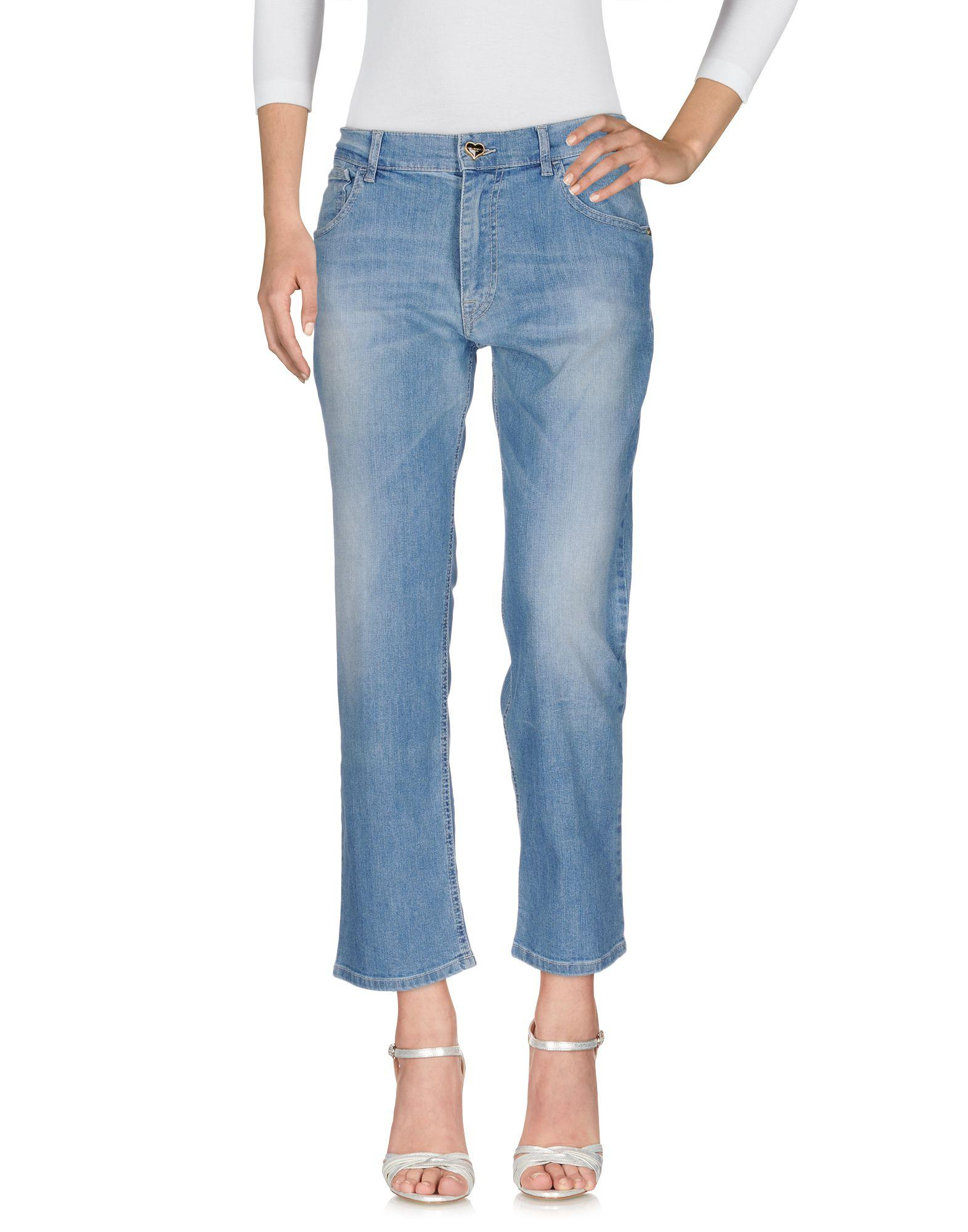 Twinset Denim Pants In Blue