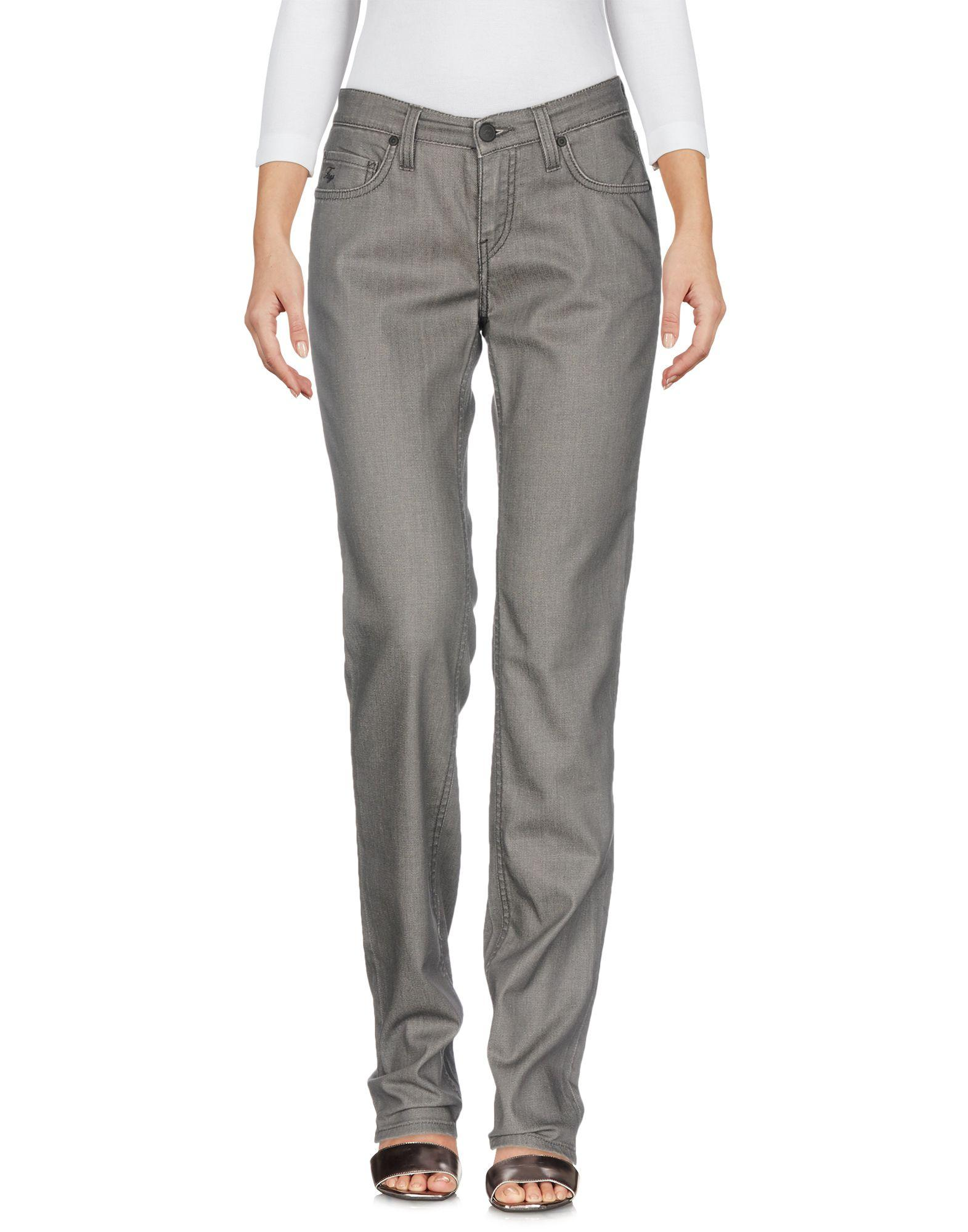 Fay Denim Pants In Grey