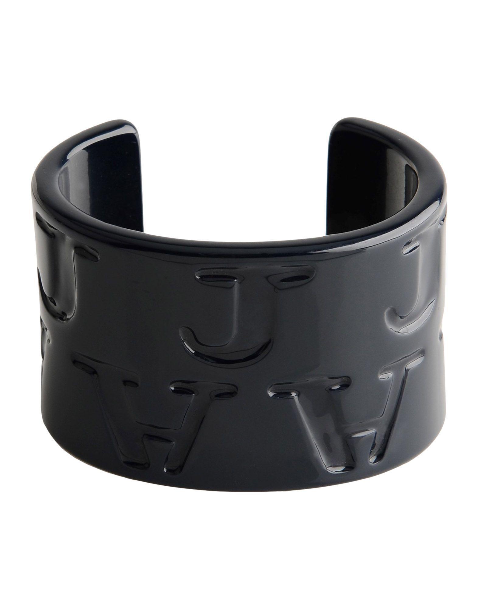 Armani Jeans Bracelets In Black
