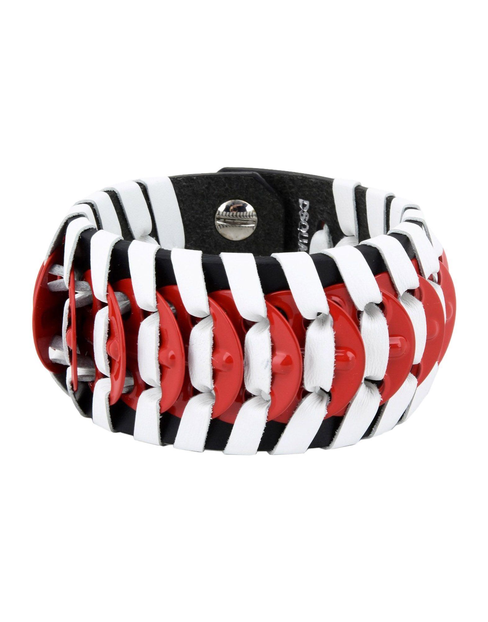 Dsquared2 Bracelet In Brick Red