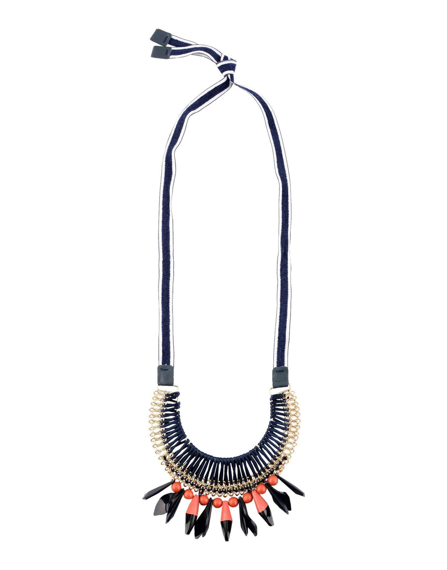 Liu •jo Necklaces In Dark Blue