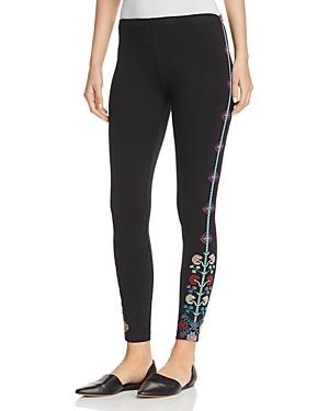 Johnny Was Voltage Embroidered Leggings, Plus Size In Black