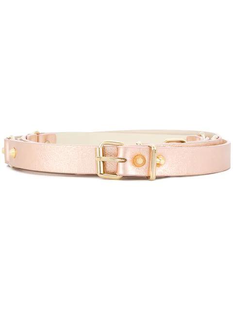 Alberta Ferretti Studded Metallic Belt - Pink