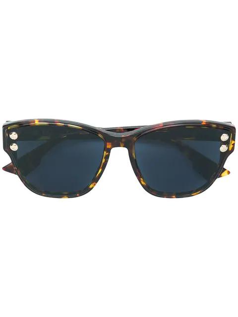 72a150ef76267 Dior Eyewear Addict Sunglasses - Brown