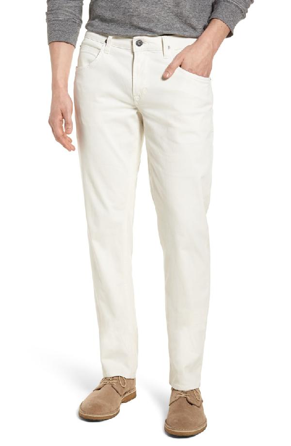 Hudson Blake Slim Straight Fit Jeans In Off White