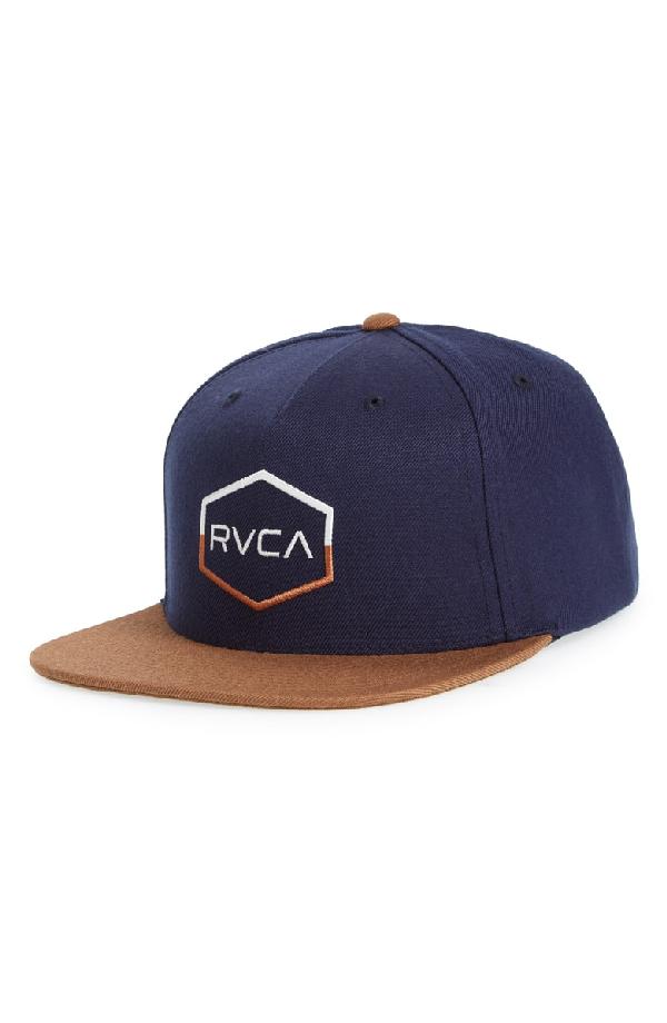 b30a5515 Rvca Commonwealth Iii Snapback Hat - Black In Navy | ModeSens