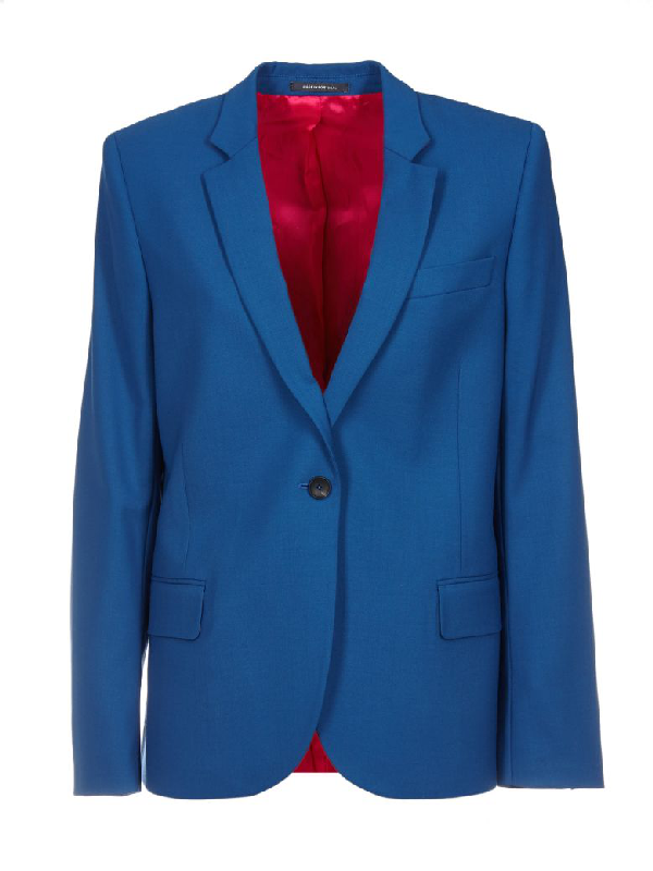 Paul Smith Single Breasted Blazer In Blue