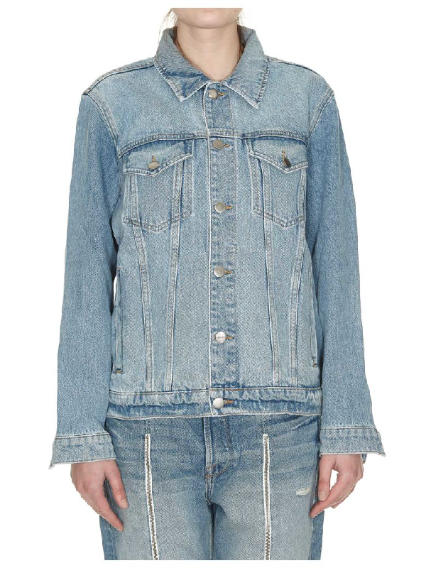 Frame Woven Denim Jacket In Newbridge