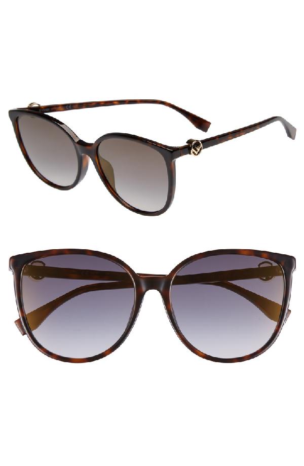 e852a49b71431 Fendi 58Mm Retro Special Fit Sunglasses - Dark Havana
