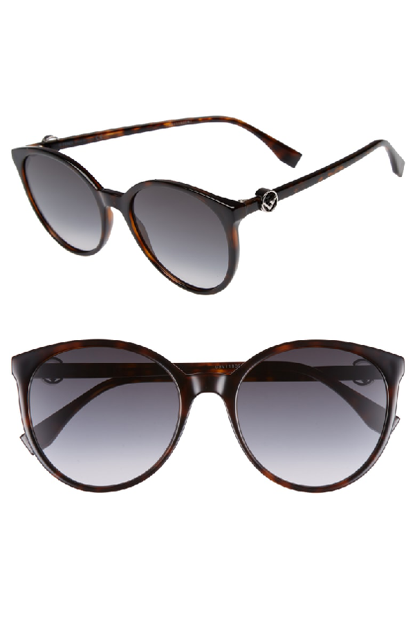 cb2349836f4f7 Fendi 56Mm Retro Sunglasses - Dark Havana