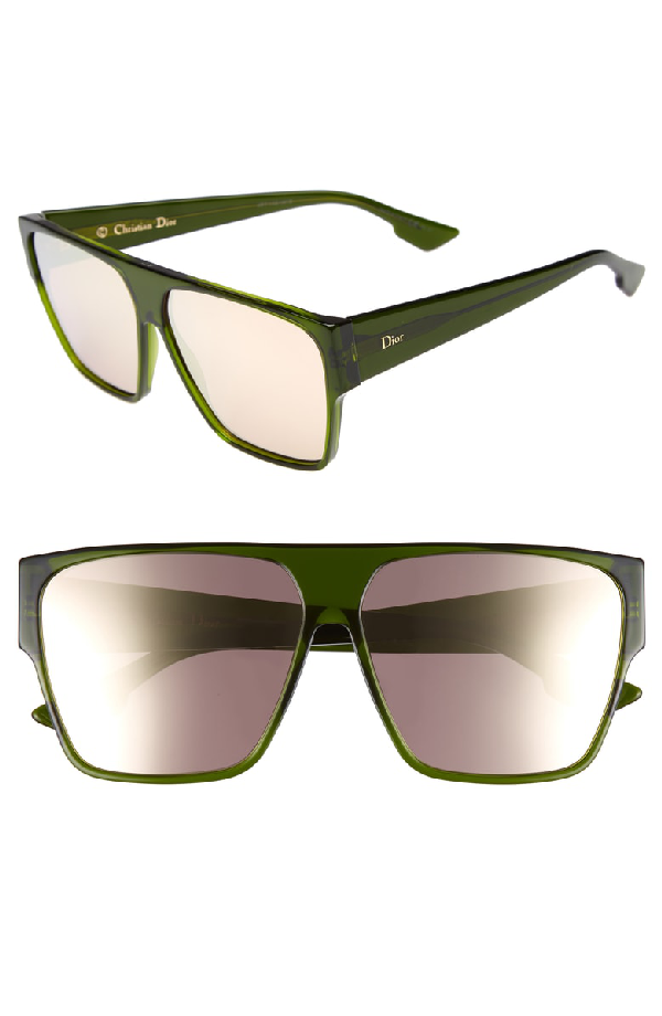b5afffc0f8 Dior 62Mm Flat Top Square Sunglasses - Green