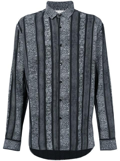 410c55b724 Saint Laurent Striped Design Shirt - Black | ModeSens