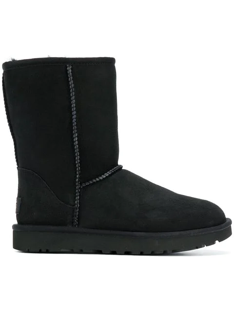 334725222ca Women's Classic Ii Genuine Shearling Lined Short Boots in Black