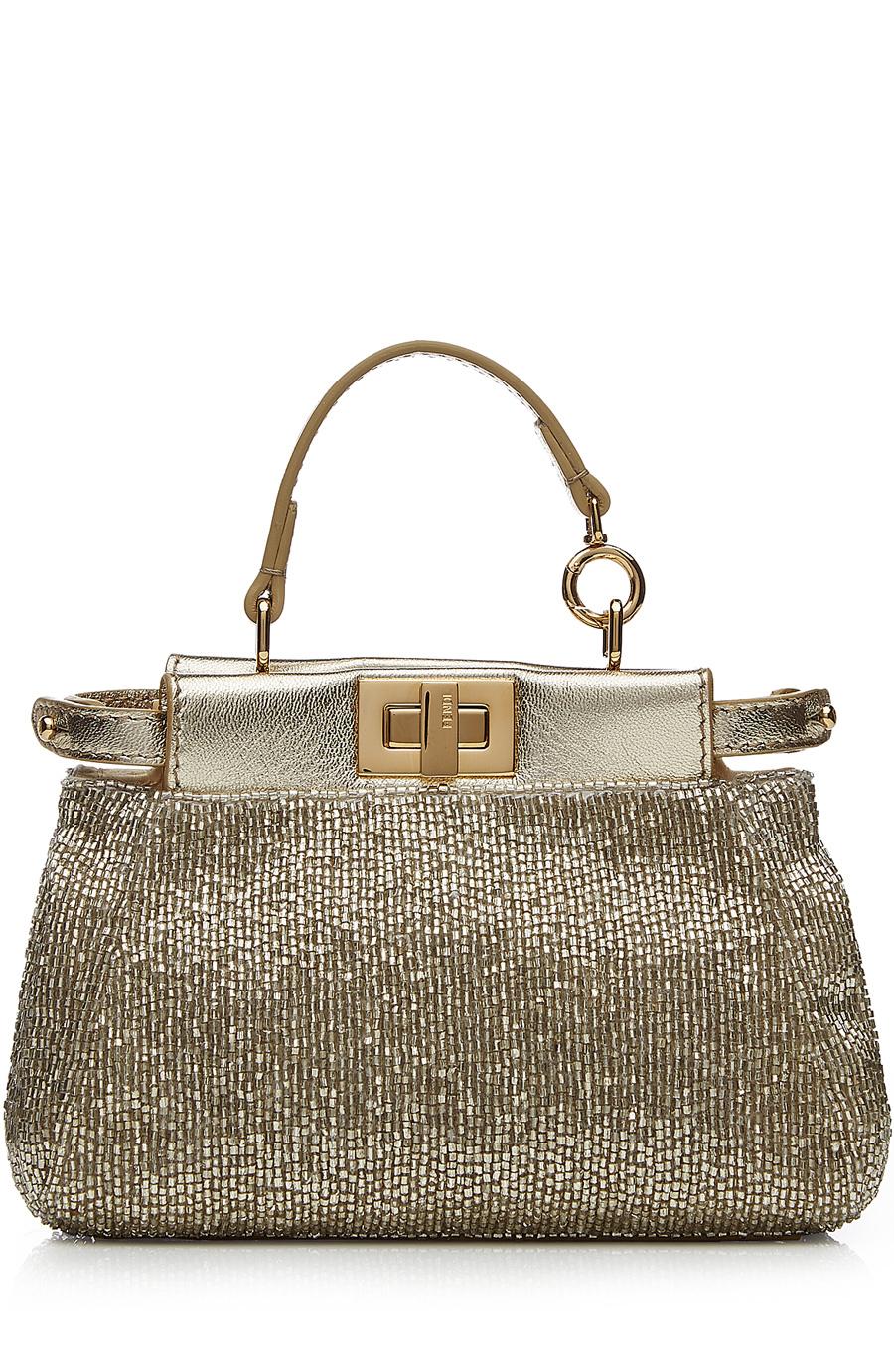 ad24351025c Fendi Embellished Micro Peekaboo Bag