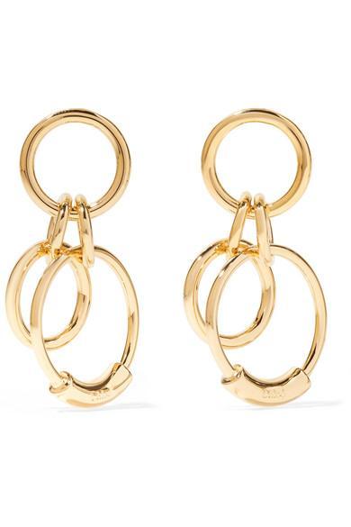 ChloÉ Reese Small Gold-Tone Earrings