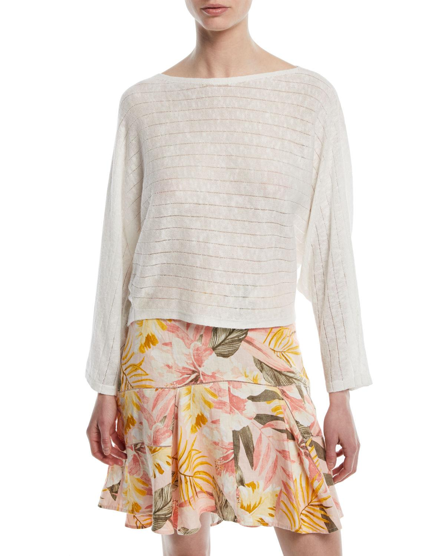Joie Brooklynn Long-Sleeve Pullover Sweater In Porcelain