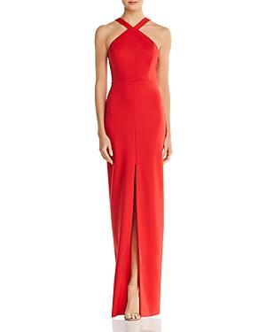 495fdc65195 Aidan Mattox Aidan By Cutout Scuba Gown - 100% Exclusive In Red Fire ...