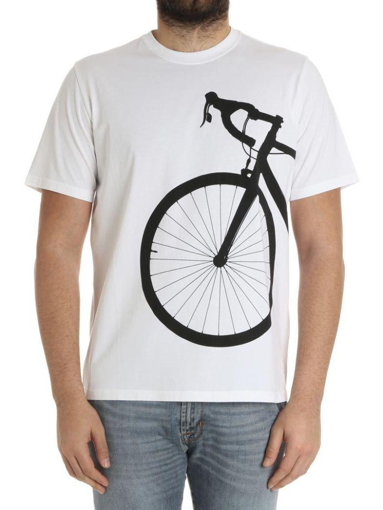 Paul Smith Bicycle Print T-Shirt In White