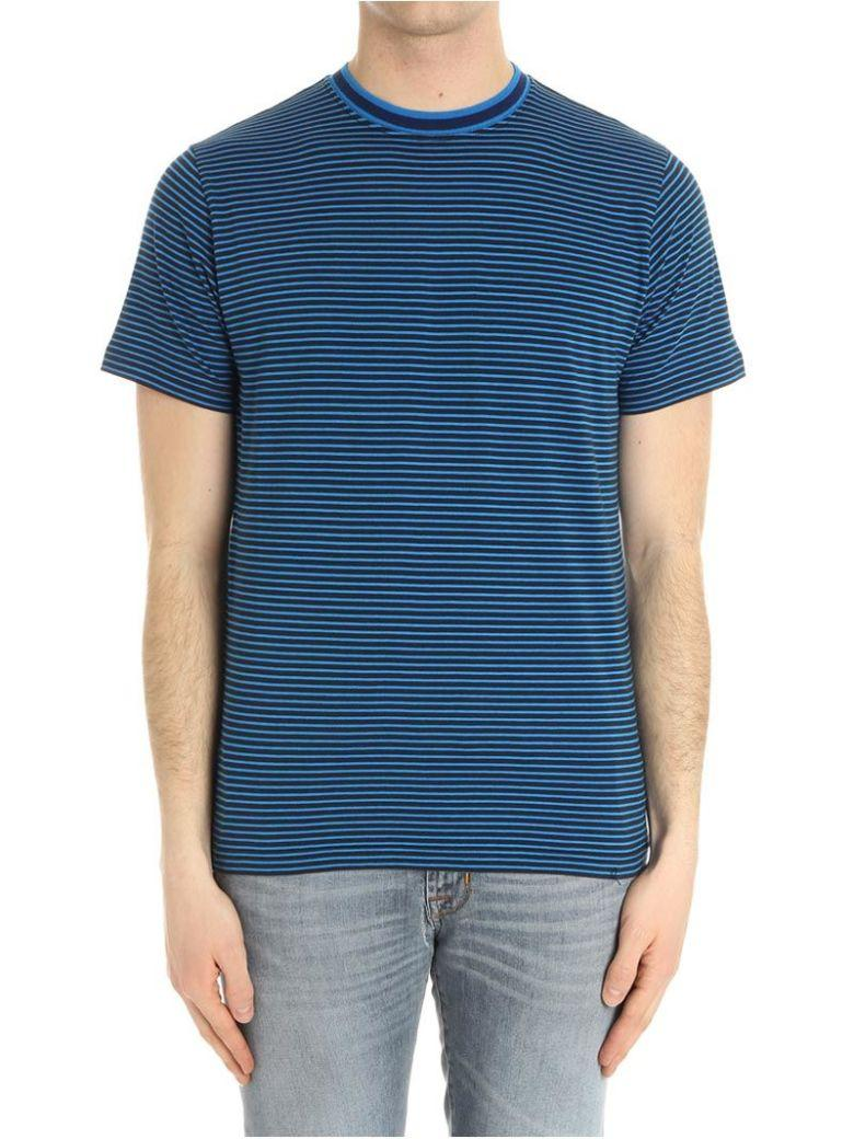 Paul Smith Striped T-Shirt In Blue