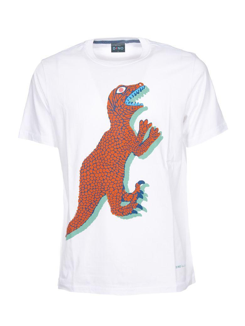 Paul Smith Dinosaur Print T-Shirt In White