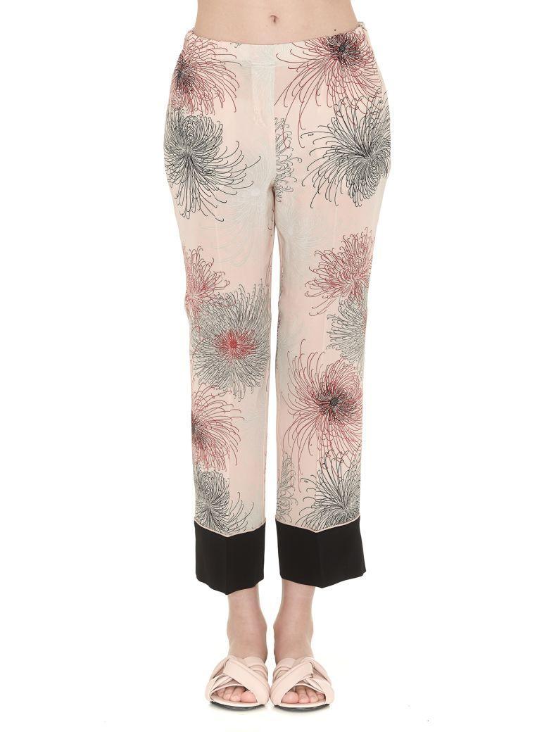 N°21 Floral Printed Trousers In Fantasia Rosa