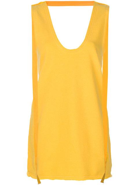 Jw Anderson Yellow Back Neck Strap Top In Dandelion