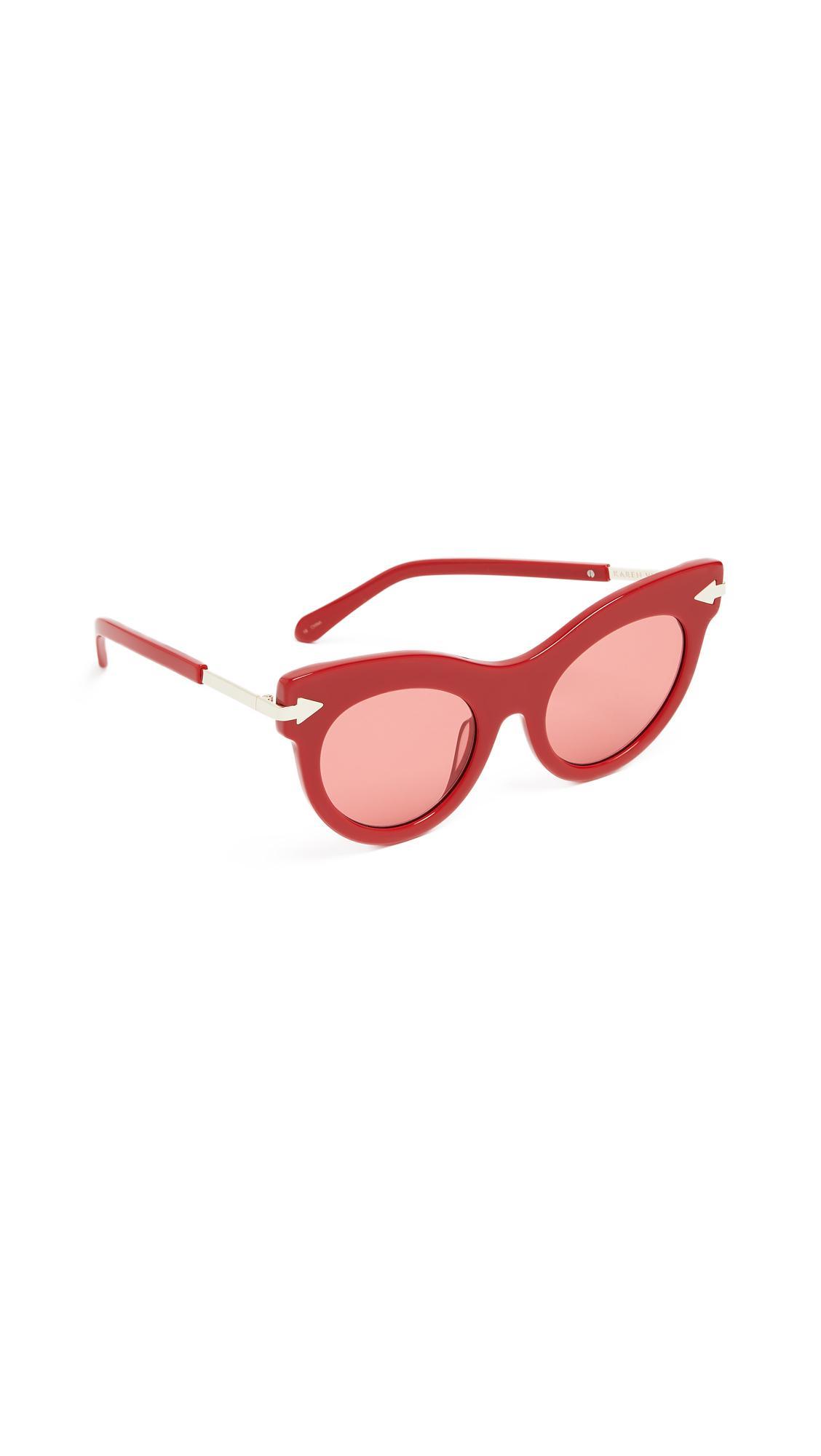 a098746463ab Karen Walker Miss Lark Sunglasses In Red/Red Tint | ModeSens