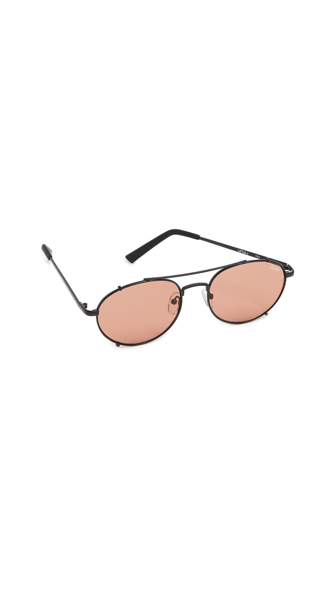 cb574e6347d75 Quay Little J Sunglasses In Black Peach