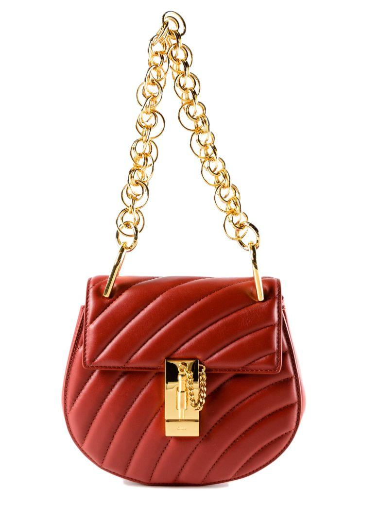 ChloÉ Drew Shoulder Bag In Dahlia Red