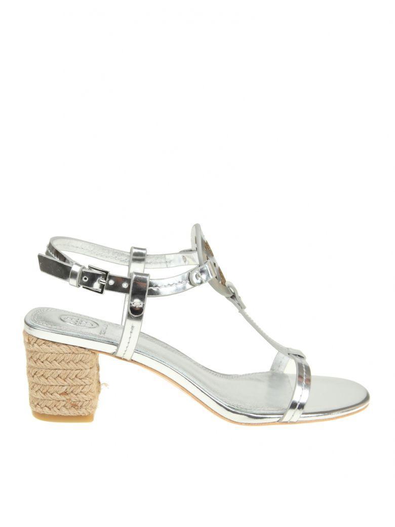 1ed13445c25c Tory Burch Miller Metallic Espadrille Sandal In Silver