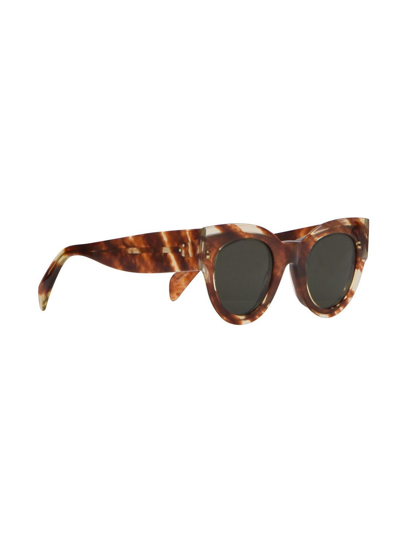 2c04c2555b3cb Celine Striped Cognac Havana Cat-Eye Acetate Sunglasses