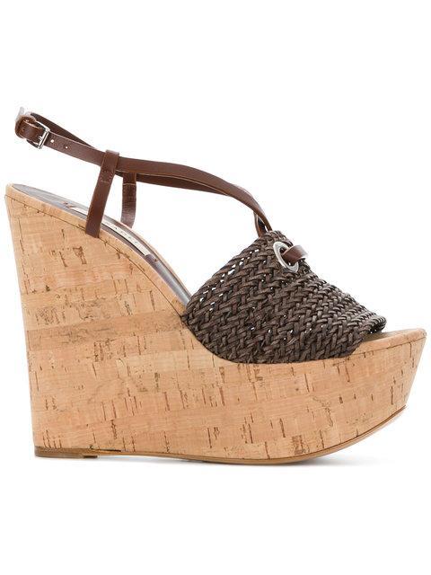 Casadei Platform Wedge Sandals