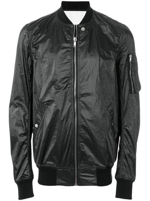 Rick Owens Drkshdw Classic Bomber Jacket In Black