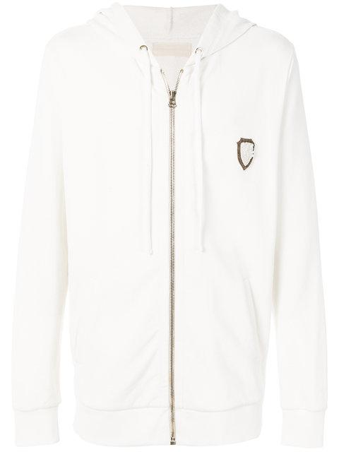 Ih Nom Uh Nit Embroidered Zipped Hoodie - White