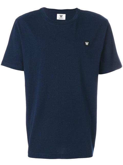 Wood Wood Logo Patch Classic T-shirt In Blue