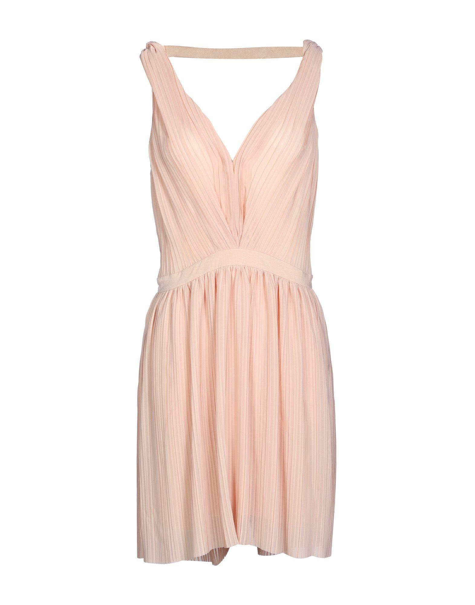 Maje Short Dress In Light Pink
