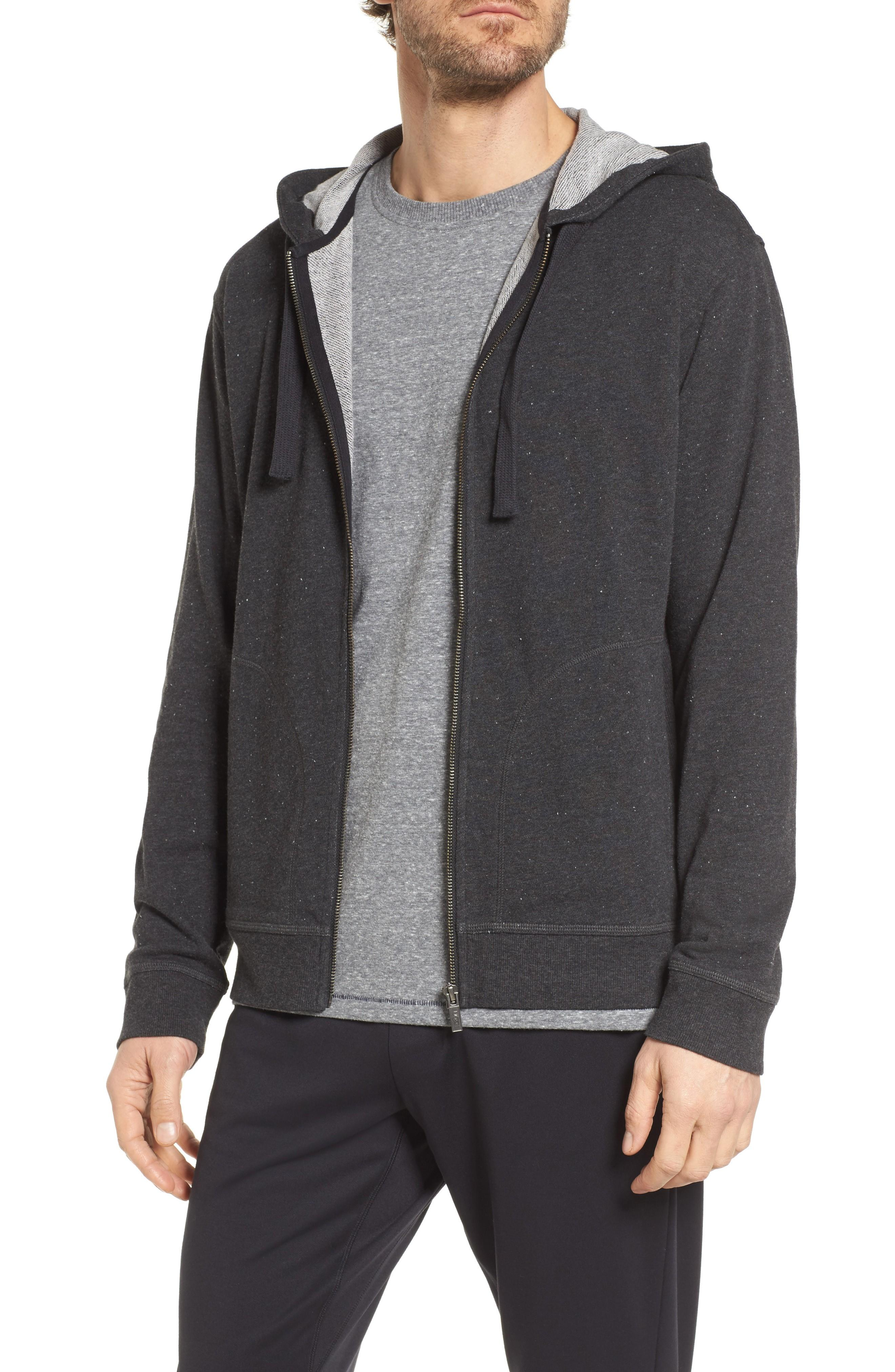 7a8be1d528f A soft cotton French terry blend means easy comfort in a versatile zip  hoodie with lightweight ribbing on the cuffs